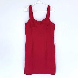 & Other Stories Pink Sleeveless Mini Cerise Dress